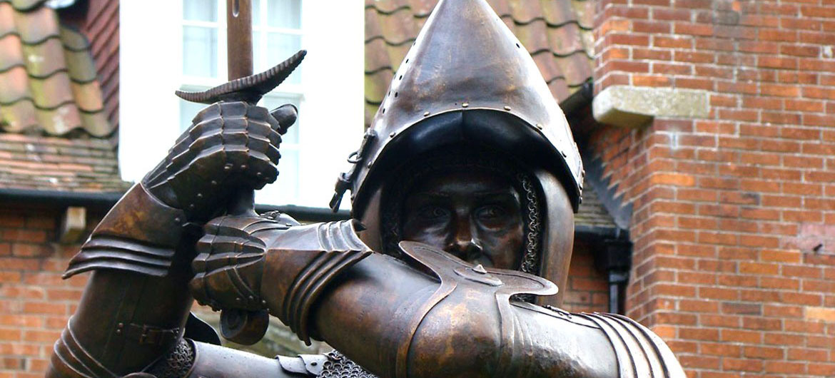 Harry Hotspur, 1.5 x lifesize - Alnwick, Northumberland - by Keith Maddison